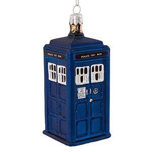Dr. Who Kurt Adler Doctor Who Tardis Figural Ornament (Glass)