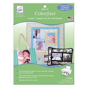 June Tailor 10-pack Colorfast White Printer Fabric