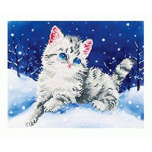 Needleart World Kitten In The Snow Kit de Bordado de Diamante