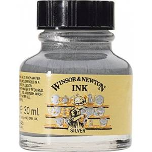 Winsor & Newton 1010617 Tinta P/Dibujo Winsor Plata 30ml