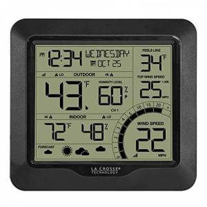 La Crosse Technology 327-1414BW Estación meteorológica para Velocidad del Viento