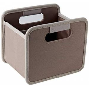 "Meori Folding Box Mini Home Collection Palm Taupe/Uni 6  x 5  x 5"" Storage Box Organizer Gift Box with Handles Decoration Small Parts Sorting Shelf"