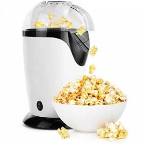 NLYWB Hot Air Popper Popcorn, 1200W Popcorn Maker, Electric Popcorn Machine with Removable Lid for Home Use, No Oil Needed, Great for Kids, White