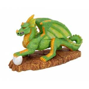 Penn-Plax Pennplax Adorno de Resina para Acuario (tamaño Mediano), diseño de dragón Verde