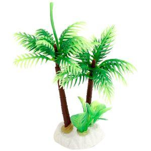 uxcell Base de cerámica de plástico para Acuario, Plantas de Coco