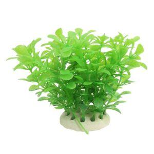 uxcell Fish Tank Emulational Plantas acuáticas Ornamentales, 3.5 Pulgadas, Color Verde