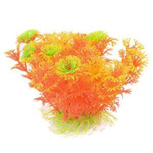 DealMux plástico acuario hierba / planta del ornamento, de 4,3 pulgadas, verde / rojo / amarillo