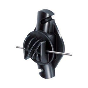 TRU-TEST Patriot Wood Post Claw Insulator Heavy-Duty Fencing Wire Polytape Black 25 Pack