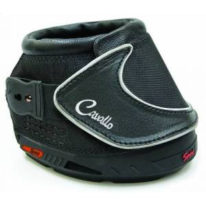 Cavallo Sport Hoof Boot Slim Sole, Black, Negro, Talla 1