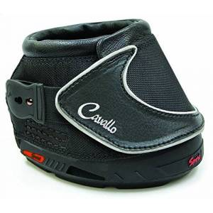 Cavallo Sport Hoof Boot Slim Sole, Black, Negro, Tamaño 2