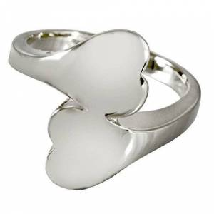 Memorial Gallery 2016s-7 Companion Heart Ring Sterling Silver Cremation Pet Jewelry, Size 7