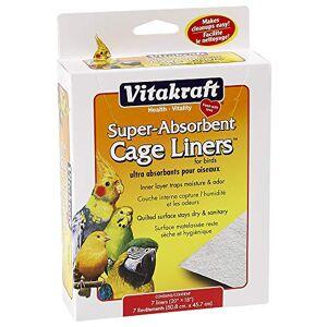 Vitakraft Forros de Jaula superabsorbentes para pájaros (20 x 18 Pulgadas), 7 Unidades