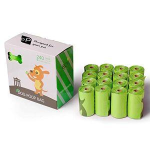 PRiME Paquete de 16 Bolsas biodegradables para residuos de Mascotas, construidas con plástico EPI Resistente, a Prueba de Fugas, respetuosas con el Medio Ambiente por Prime Pet