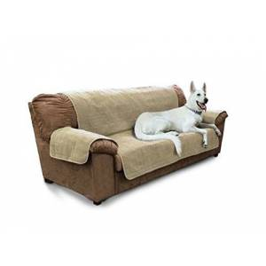 Furhaven Pet Furniture Protector   Home Sofa Protector/Cover for Dogs & Cats, Clay