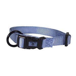 """Hamilton Collar Ajustable de Nailon para Perro, Color Azul, 3/4"""" x 40,6-55,88 cm"""