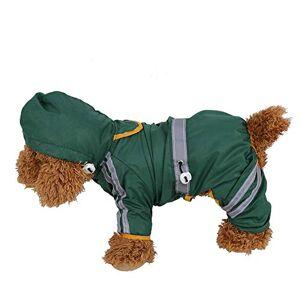 Filfeel Impermeable para Perros, Reflectante 100% poliéster, Jugando en Varios tamaños bajo la Lluvia(XL)