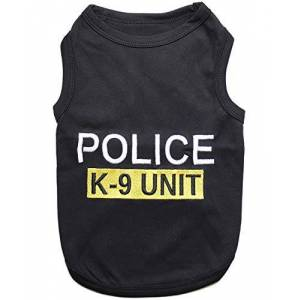 Parisian Pet Police Dog T-Shirt, X-Large