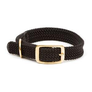 Mendota Products Collar de Trenza Doble para Perro, 2.54 cm por 45.7 cm, Negro