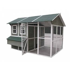 Coops & Feathers Wood and Wire Chicken Coop, XX-Large