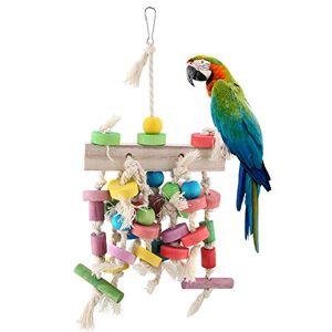 Redxiao Juguete del pájaro del Animal doméstico, Madera de la Escalera Colgante del oscilación Que Sube el Juguete de la Jaula del Periquito de la Fuente Que Sube