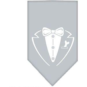Mirage Pet Products Pañuelo con Estampado de Esmoquin, Talla pequeña, Color Gris