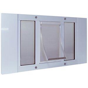 """IDEAL PET Products 33SWDM Aluminum Sash Window Pet Door, Medium/7"""" x 11.25"""", White"""