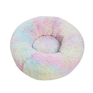 DRGRG Donut Nest Cave Bed Soft Round Lavable Plush Pet House Cama Cálida Cómoda Camas para Perros Calmante Cama para Cachorros Y Gatos Suministros para Mascotas 80Cm 3