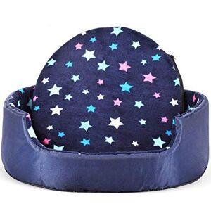 Yourhero Cama para mascotas desmontable para perros pequeños, medianos y grandes, Estrella de color, L