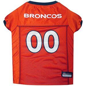 NFL Brand NFL PET JERSEY. playera para perro con licencia de fútbol más cómoda. 32 equipos NFL disponibles en 7 tamaños. para perros, gatos y animales. Denver Broncos, Anaranjado, XS