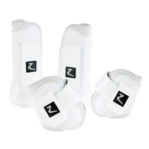 HORZE Advanced ProTec Set de Botas, Blanco, Pony