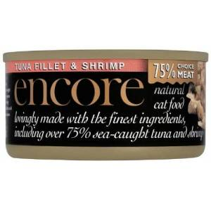 GroceryLand Encore Comida Natural para Gatos (Sabor atún y camarón, 70 g, 9 Unidades)