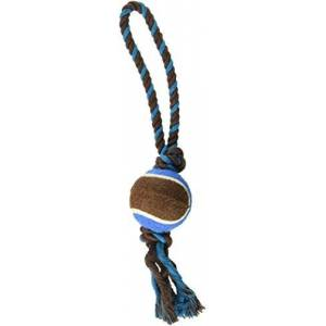 Kole KI-DI520 Knotted Dog Toy with Tennis Ball, One Size