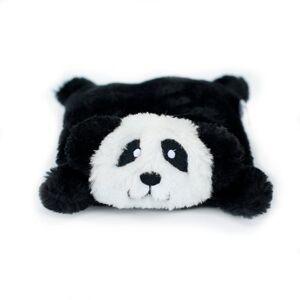 ZippyPaws Squeakie Pad No Stuffing Plush Dog Toy, Negro, Panda