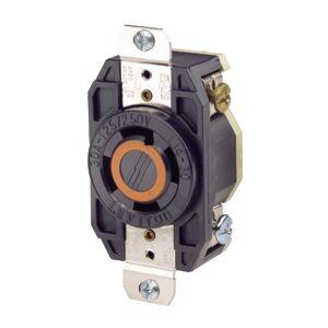 Leviton 065-02710-000 Conector Industrial con Tierra y Código de color Que Indica El Rango de Voltaje, 30Amp, 125-250 V