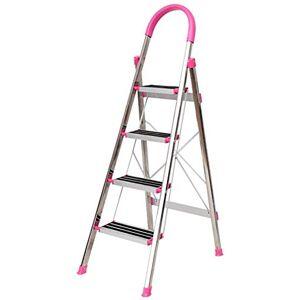 SED Escaleras de Mano Multiusos para el Hogar, Taburetes Interiores para Escaleras Gruesas Y Reforzadas de Acero Inoxidable Escaleras Plegables Taburetes para Escaleras Capacidad de Carga de la Escal