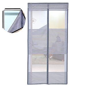 """Liveinu diseño único magnético reforzado Protector de puerta se adapta a puertas de hasta 78x 86inch con velcro de marco completo Fly cortina de mosquito, 78""""x 86"""", Gris"""