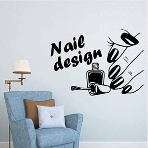 yyfdy Diy Art Nail Salon Wall Art Decal Etiqueta De La Pared Mural Etiqueta De La Pared Extraíble Habitaciones Decoración Del Hogar Vinilo Decorativo 57X79 Cm