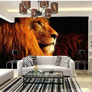 MRQXDP Papel pintado  Papel tapiz mural personalizado 3D scopic Animal Lions Mural grande Sala de estar Dormitorio Sofá TV Fondo de pantalla Papel tapiz de pared
