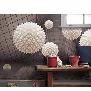 Zjxxm Papel tapiz 3D murales de pared bola polígono espacio abstracto patrón de agua TV fondo de la pared sala de estar dormitorio papel tapiz 3d-200cmx140cm
