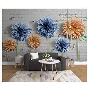 MBWLKJ Fondo Moderno De La Pared Del Papel De La Pared 3D De La Personalidad Simple 3D Crisantemo Nostálgico Del Interior Fondo De La Tv-250Cmx175Cm