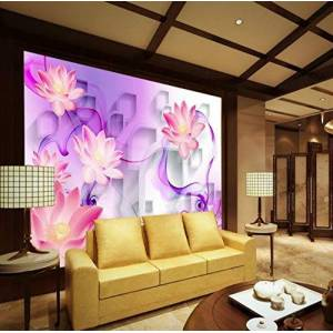 HYF Wallpaper Papel Pintado Mural Mural Decorativo 3D Para El Telón De Fondo De La Sala De Estar Dormitorio Moderno Fondos De Pantalla Simples 3D, 320 * 240 Cm