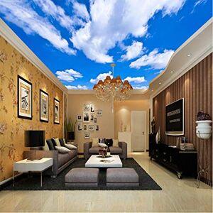 hwhz Techo Personalizado Mural Wallpaper 3D Cielo Azul Y Nubes Blancas Sala De Estar Dormitorio Techo Fondo Foto Papel Pintado Fondos De Pantalla-350X250Cm