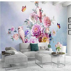 Dalxsh Papel Tapiz Fotográfico Personalizado Moda Europea Papel Tapiz Floral Salón Tv Telón De Fondo Papel Tapiz Mural Personalizado200X140Cm