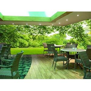 Ayzr Papel tapiz 3D Foto Wallpaper Green Forest Tree Paesaggi naturali Wallpaper Theme Hotel Cafe TeaShop Restaurant Carta da parati Murales,300X210cm