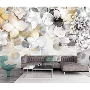 WallpaperxMural Papel Pintado Para Pared 3D Mural Flores Acuarelas Pintadas A Mano Modernas Papel Tapiz de Pared Para Sala De Estar Dormitorio Murales 250cmX175cm
