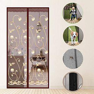 WYMNAME Puerta de pantalla magnética de la mosca Con resistente malla de cortina, Manos libre errores fuera de la pantalla de la puerta con imanes Cortina de la puerta Cierre automático-B 85x210cm(33x83inch)