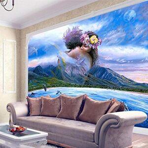 LIVEXZ Tv Sofá Fondo DIY 3D arte Papel pintado Wallpaper Mural de pared clásicos poster interiores imágenes diseño Hogar decoración/Amor romántico