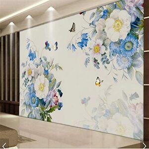 wuyyii Pintura De La Mano Flor De Rosa Papel Tapiz Murales Inicio Mural De Pared Calcomanías Impresión 3D Estéreo Floral Papel De Pared Rollo Mural De Pared 3D-350X250CM