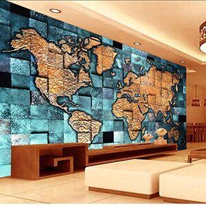 smydp Murales Tamaño Personalizado Estilo Europeo 3D Mapa Del Mundo Foto Mural Papel Tapiz Para Sala De Estar Sala De Estudio Arte Abstracto Decoración Papel Tapiz,200X140Cm