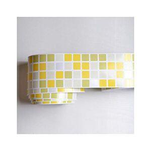 Baota calcomanía de vinilo calcomanía para pared de baño, diseño de mosaico, impermeable, para cocina, baño, papel de pared, decoración del hogar, 1m x 10cm, PC-15.